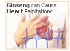 ginseng palpitations