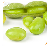Edamame is a soybean rich in protein and fiber.