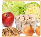 Soy, tofu, onions, lettuce, tomatoes, red wine, green tea and apples contanins phytoestrogens